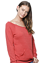 Women's eco Triblend Fleece Raglan w/Pouch Pocket ECO TRI TRUE RED Side