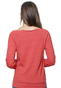Women's eco Triblend Fleece Raglan w/Pouch Pocket ECO TRI TRUE RED Back