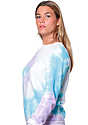 Unisex Swirl Tie Dye Crew Sweatshirt  3