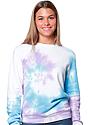 Unisex Swirl Tie Dye Crew Sweatshirt  1
