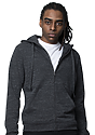 Unisex eco Triblend French Terry Full Zip Hoody ECO TRI CHARCOAL front