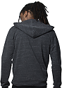 Unisex eco Triblend French Terry Full Zip Hoody ECO TRI CHARCOAL back