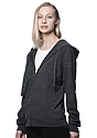 Unisex eco Triblend French Terry Full Zip Hoody ECO TRI CHARCOAL Side2