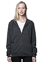 Unisex eco Triblend French Terry Full Zip Hoody ECO TRI CHARCOAL Front2