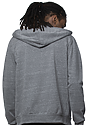 Unisex eco Triblend French Terry Full Zip Hoody ECO TRI GREY back