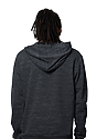 Unisex eco Triblend French Terry Pullover Hoody ECO TRI CHARCOAL back