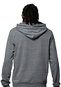 Unisex eco Triblend French Terry Pullover Hoody ECO TRI GREY back