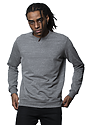 Unisex eco Triblend French Terry Crew ECO TRI GREY Front