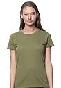 Women's Organic Short Sleeve Tee MOSS Front