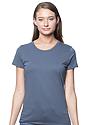 Women's Organic Short Sleeve Tee PACIFIC BLUE Front