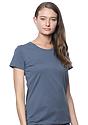 Women's Organic Short Sleeve Tee PACIFIC BLUE Side