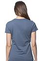 Women's Organic Short Sleeve Tee PACIFIC BLUE Back