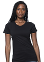 Women's Short Sleeve Tee BLACK Front