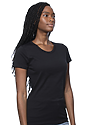 Women's Short Sleeve Tee BLACK Side