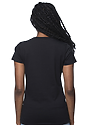Women's Short Sleeve Tee BLACK Back