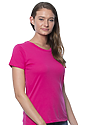 Women's Short Sleeve Tee FUCHSIA Side