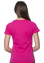 Women's Short Sleeve Tee FUCHSIA Back