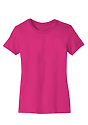 Women's Short Sleeve Tee FUCHSIA Laydown