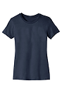 Women's Short Sleeve Tee NAVY Laydown