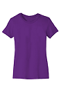 Women's Short Sleeve Tee PURPLE Laydown