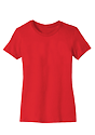Women's Short Sleeve Tee RED Laydown