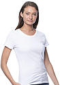 Women's Short Sleeve Tee WHITE Side