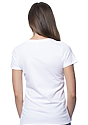 Women's Short Sleeve Tee WHITE Back