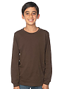 Youth Long Sleeve Crew Tee CHOCOLATE Front