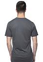 Unisex Short Sleeve Tee ASPHALT Back