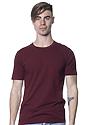 Unisex Short Sleeve Tee BURGUNDY Front