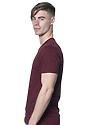 Unisex Short Sleeve Tee BURGUNDY Side