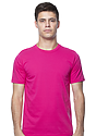Unisex Short Sleeve Tee FUCHSIA Front