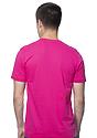 Unisex Short Sleeve Tee FUCHSIA Back