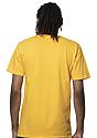 Unisex Short Sleeve Tee GOLD Back