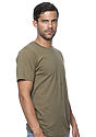 Unisex Short Sleeve Tee MILITARY GREEN Side