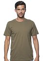 Unisex Short Sleeve Tee MILITARY GREEN Front