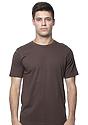 Unisex Organic Short Sleeve Tee BARK Front