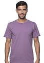 Unisex Organic Short Sleeve Tee EGGPLANT Front