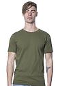 Unisex Organic Short Sleeve Tee MOSS Front