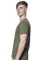 Unisex Organic Short Sleeve Tee MOSS Side