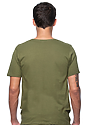 Unisex Organic Short Sleeve Tee MOSS Back