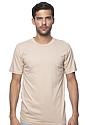 Unisex Organic Short Sleeve Tee MUSHROOM Front