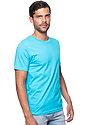Unisex Organic Short Sleeve Tee SCUBA BLUE Side