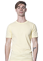 Unisex Short Sleeve Tee PALE YELLOW Front