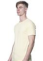Unisex Short Sleeve Tee PALE YELLOW Side