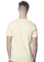 Unisex Short Sleeve Tee PALE YELLOW Back