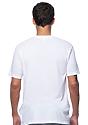 Unisex Short Sleeve Tee WHITE Back