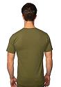 Unisex Union Short Sleeve Tee OLIVE Back