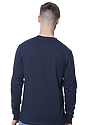 Unisex Long Sleeve Tee NAVY Back