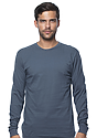 Unisex Organic Long Sleeve Tee PACIFIC BLUE Front